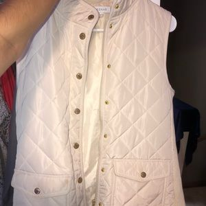 Cream/ off-white vest with gold buttons